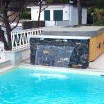 Piscina in cemento armato, rivestimento in PVC - Santa Margherita Ligure (GE)
