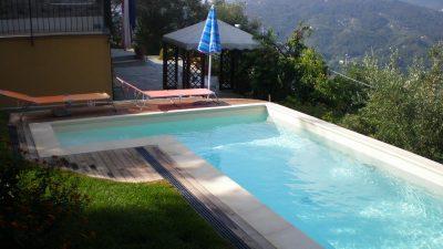 Piscina in casseri, rivestimento in PVC - Rapallo (GE)