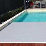 Piscina in casseri, rivestimento in PVC con copertura a tapparella - Sovico (MB)