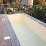 Piscina in cemento armato attico, rivestimento in PVC - Carate Brianza (MB)